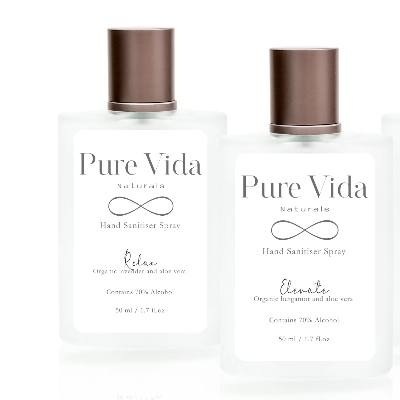 Pure Vida Naturals has launched a range of hand sanitisers that are ideal for wedding favours