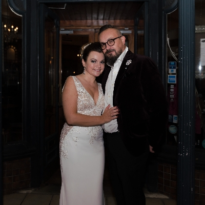 After tying the knot in New York, Chantrelle and Tara had an Art Deco-themed blessing