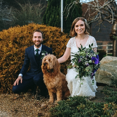 Helen and Sam celebrated their wedding with friends and family at the beautiful Denbies Wine Estate