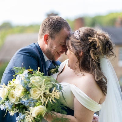 Lucy and Rob celebrated their big day in a marquee surrounded by their friends and family
