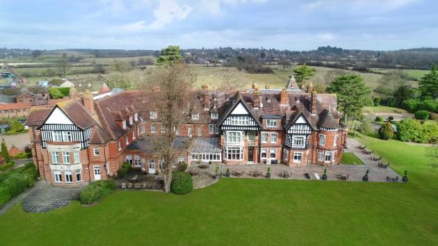 Aerial view of Woodlands Park Hotel, Cobham