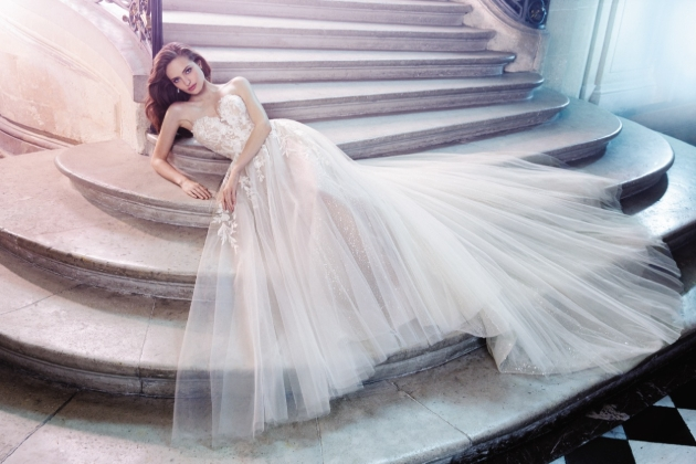Model in dress from Enzoani from Brides Visited