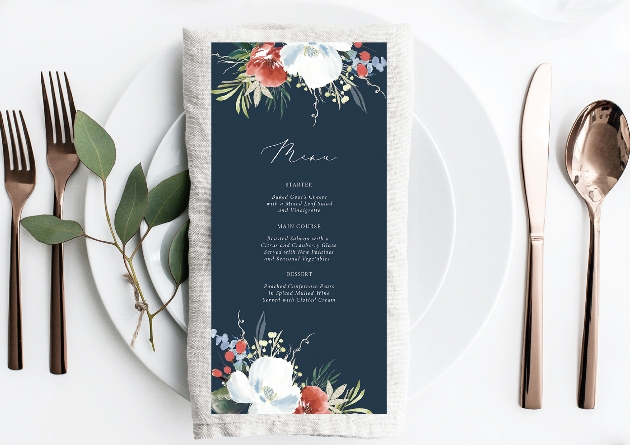 How to create wintry stationery