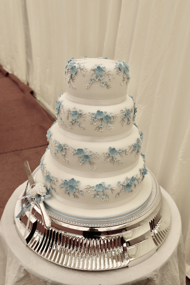 Four-tier cake