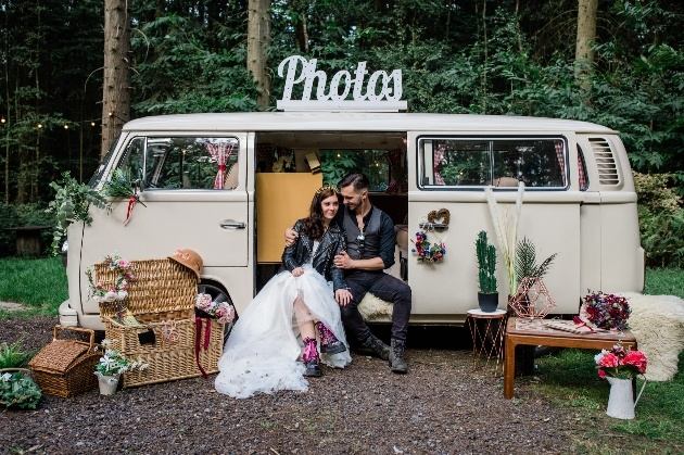 Buttercup Bus and Lily Jones Events have teamed up to create The Drive In Vintage Camper Wedding